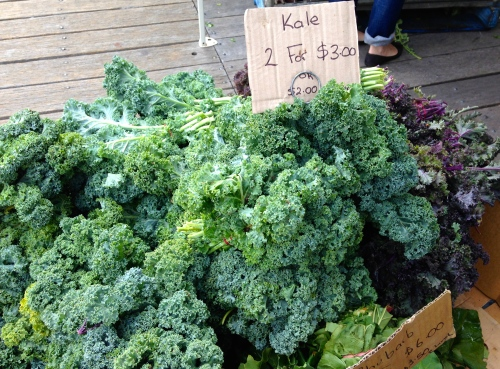 Kale for sale at Pyrmont market 2013